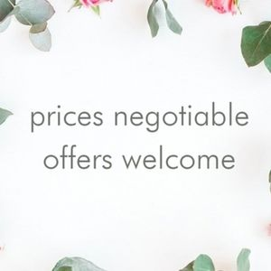 Offers welcome!